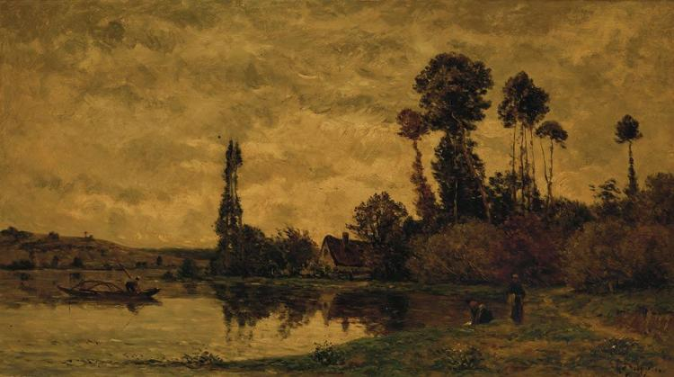 Hippolyte Camille Delpy French, 1842-1910 Automne a Tournedos-sur-Seine, 2004