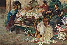 Stefano Novo Italian, 1862-1927 The Flower Market