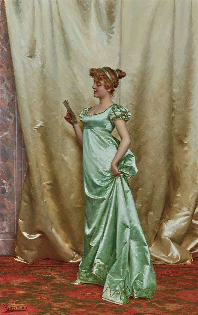 Vittorio Reggianini Italian, 1858-1939 The Love Letter