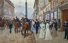 Jean Beraud French, 1849-1936 Devant La Maison Paquin