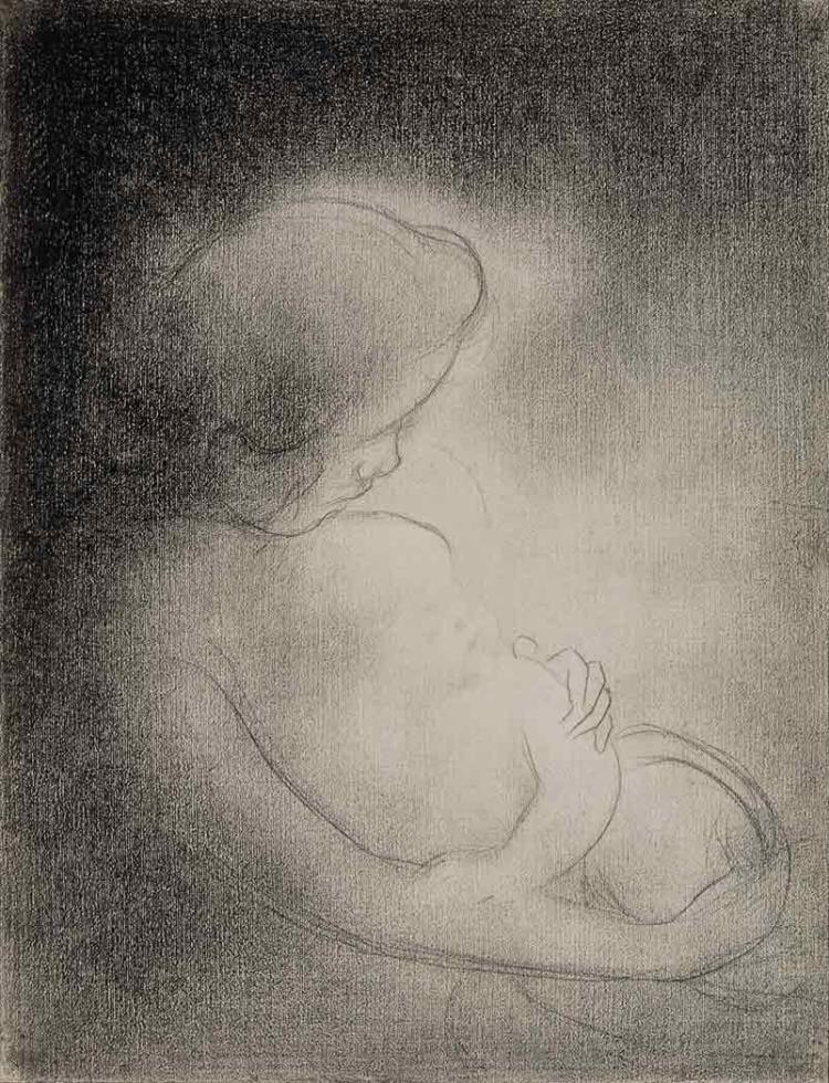 Charles Angrand French, 1854-1926 Maternite