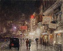 Alfredo Helsby Chilean, 1862-1936 City Nocturne