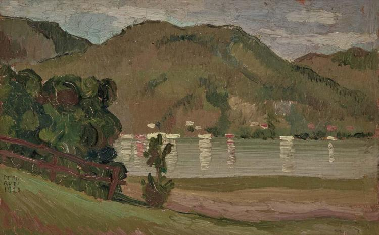 Emilio Pettoruti Argentine, 1892-1971 Landscape in Tegernsee, 1921