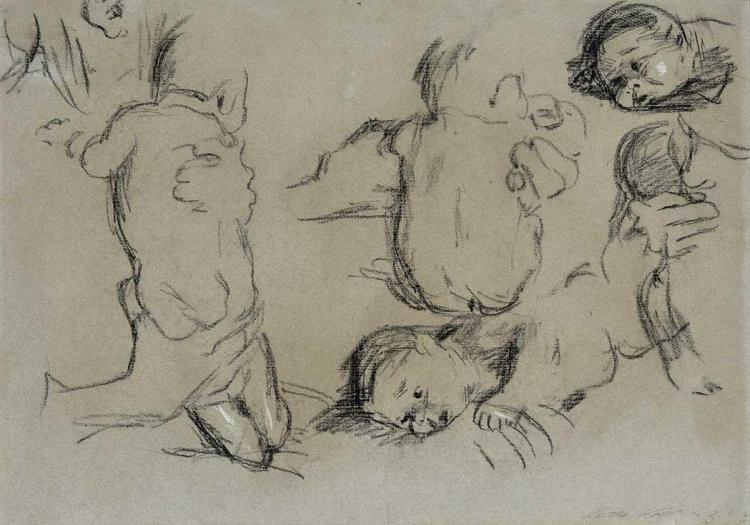 Kathe Kollwitz German, 1867-1945 Infant Sketches (Sauglingsskizzen), studies for Mutter und Kind, 1903