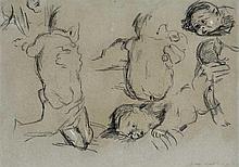 Kathe Kollwitz German, 1867-1945 Infant Sketches (Sauglingsskizzen), studies for Mutter und Kind, 1903