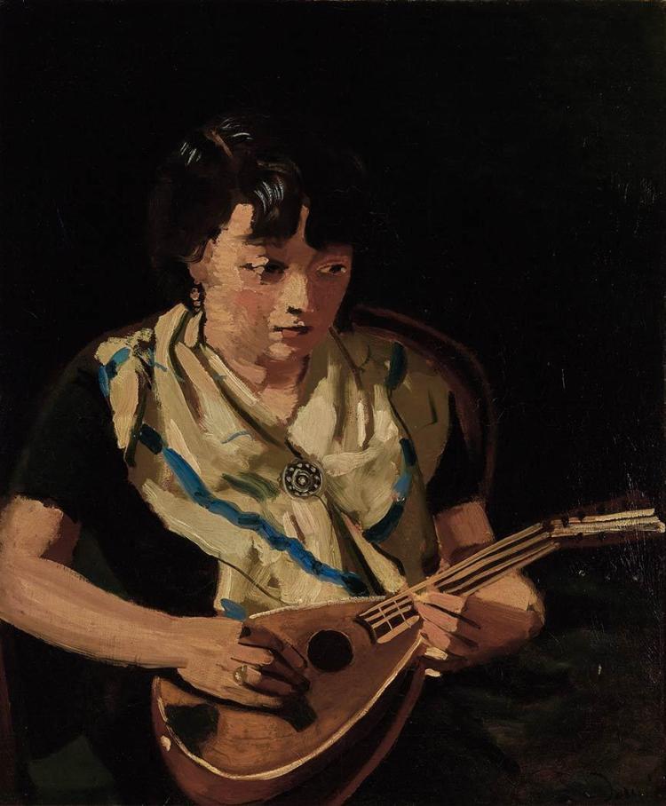 Andre Derain French, 1880-1954 Fille a la Mandoline, 1931