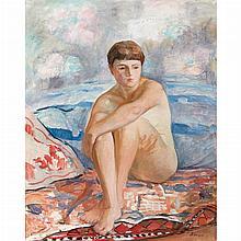 Henri Lebasque French, 1865-1937 Femme Nu Assise sur la Plage