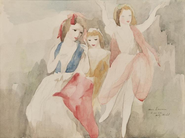 Marie Laurencin French, 1883-1956 Jeune Femme et Jeunes Filles en Plein Air