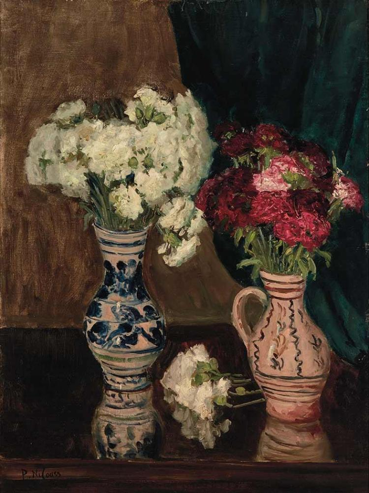 Petr Alexandrovich Nilouss (Nilus) Ukrainian, 1869-1943 Two Bouquets