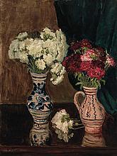 Petr Alexandrovich Nilouss (Nilus) Ukrainian, 1869-1943 Two Bouquets