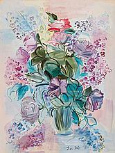 Jean Dufy French, 1888-1964 Bouquet de Roses et de Lilas