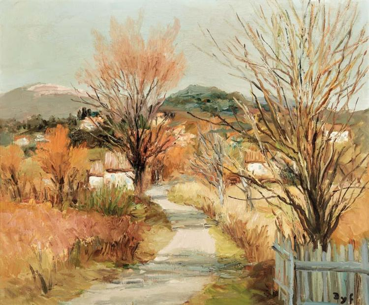 Marcel Dyf French, 1899-1985 Arbres de Provence Signed Dyf (lr) Oil on canvas 18 x 21 1/2 inches (45.8...