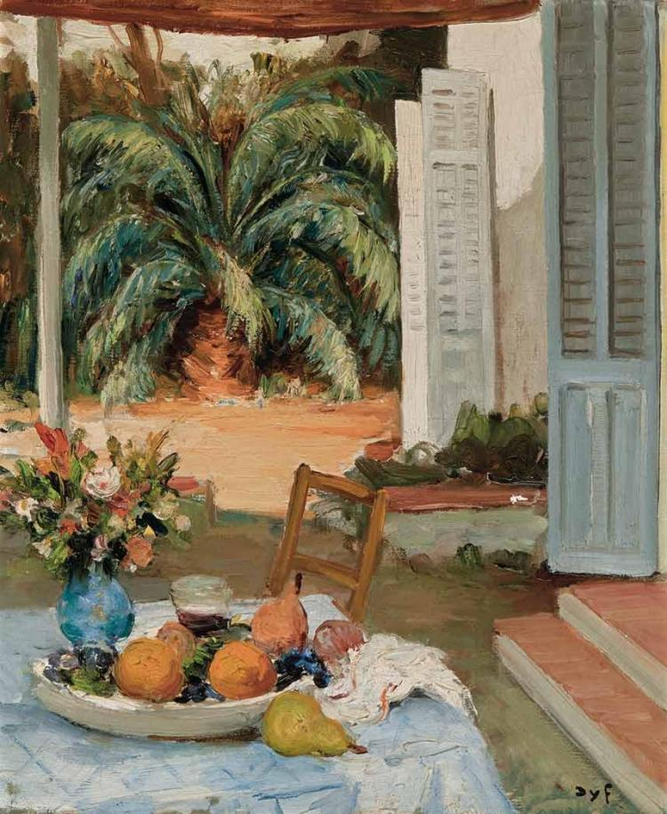Marcel Dyf French, 1899-1985 La terrasse de l''atelier de Cannes   Signed Dyf (lr) Oil on canvas 21 5/8 x...
