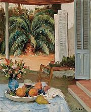 Marcel Dyf French, 1899-1985 La terrasse de l''atelier de Cannes   Signed Dyf (lr) Oil on canvas 21 5/8 x...