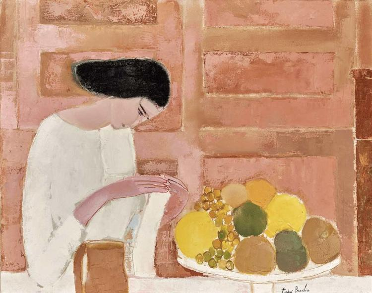 Andre Brasilier French, b. 1929 Chantal au Compotier, 1962