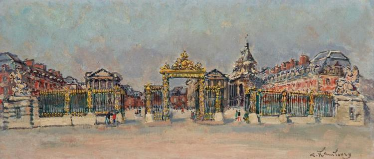 Andre Hambourg French, 1909-1999 A Versailles, 1972