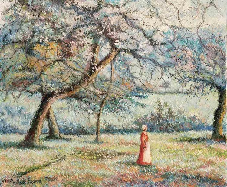 Hughes Claude Pissarro French, b. 1935 Les Pommiers de Terre-Ferrand