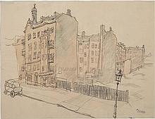 George Ehrenfried Grosz German, 1893-1959 In Sudende (South End Berlin), 1912
