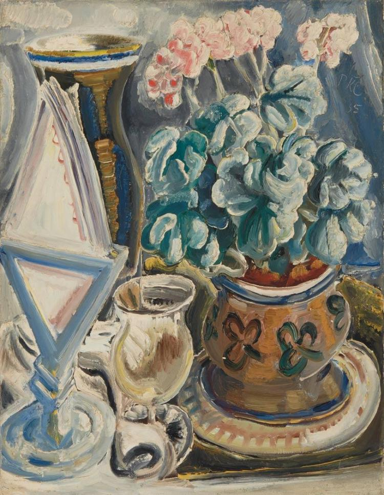Paul Kleinschmidt German, 1883-1949 Still Life with Geraniums, 1935