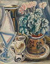 Paul Kleinschmidt German, 1883-1949 Still Life with Geraniums, 1935