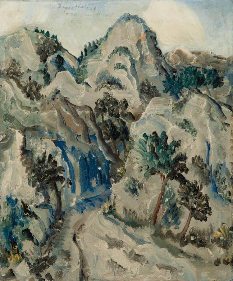 Paul Kleinschmidt German, 1883-1949 Landschaft in Sudfrankreich