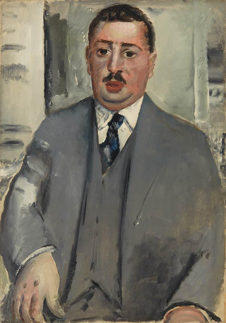 Paul Kleinschmidt German, 1883-1949 Portrait of Erich Cohn