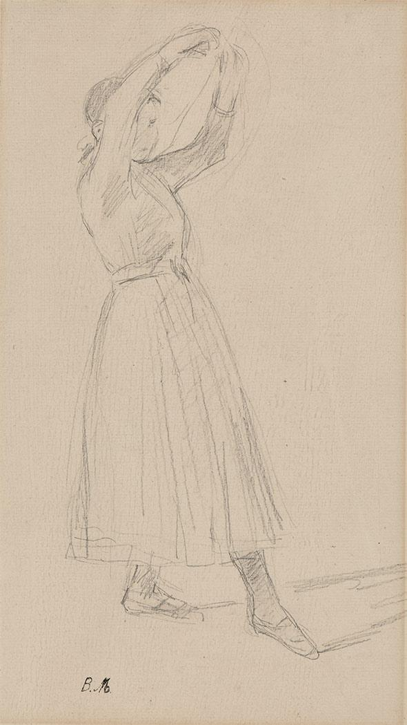 Berthe Morisot French, 1841-1895 Young Girl Dancing; Two Girls: a double-sided drawing