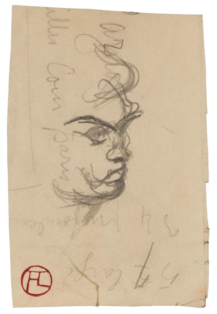 Henri de Toulouse-Lautrec French, 1864-1901 Study of a Head