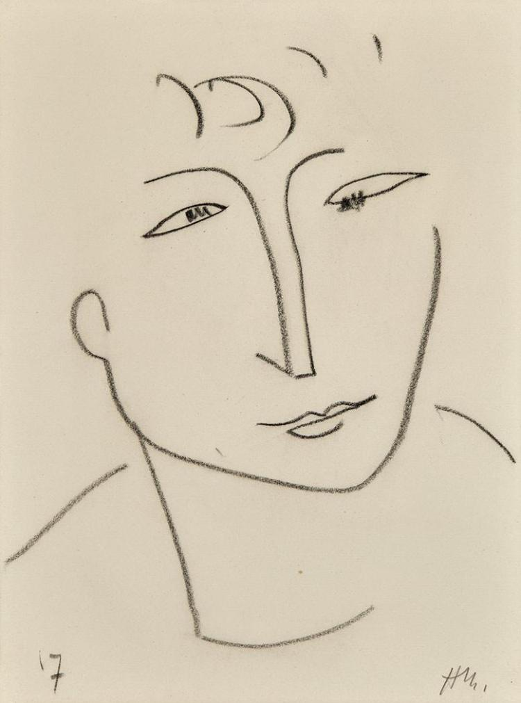 Henri Matisse French, 1869-1954 Head of a Woman, circa 1951-52