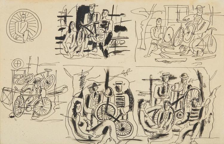 Fernand Leger French, 1881-1955 Six Etudes Pour