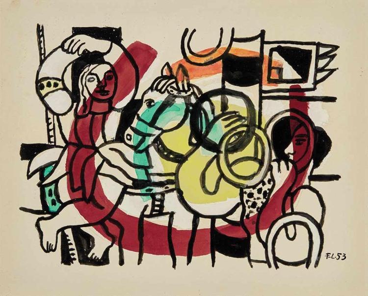 Fernand Leger French, 1881-1955 Le Jongleur et L''Acrobate