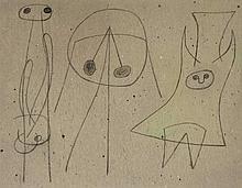 Joan Miro Spanish, 1893-1983 Composition, 1949