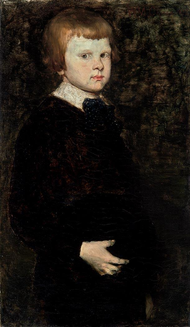 William Merritt Chase American, 1849-1916 Portrait of Piloty''s Son Signed W. M. Chase and dated 1877...