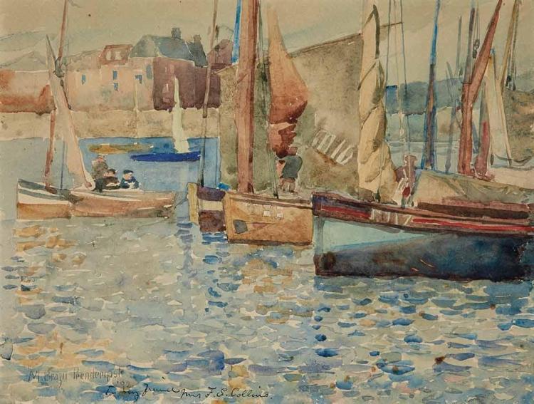 Maurice Brazil Prendergast American, 1858-1924 Harbor Scene