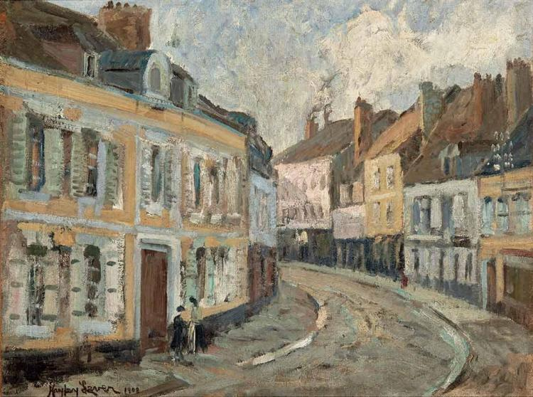 Richard Hayley Lever American/Australian, 1876-1958 Concarneau, France   Signed Hayley Lever and dated 19...