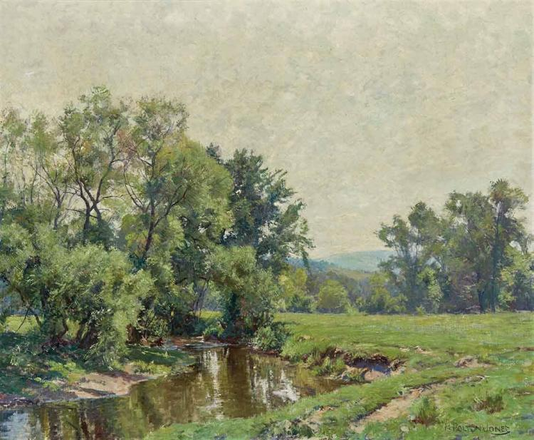 Hugh Bolton Jones American, 1848-1927 Summer Day with Stream in South Egremont (Mass.)