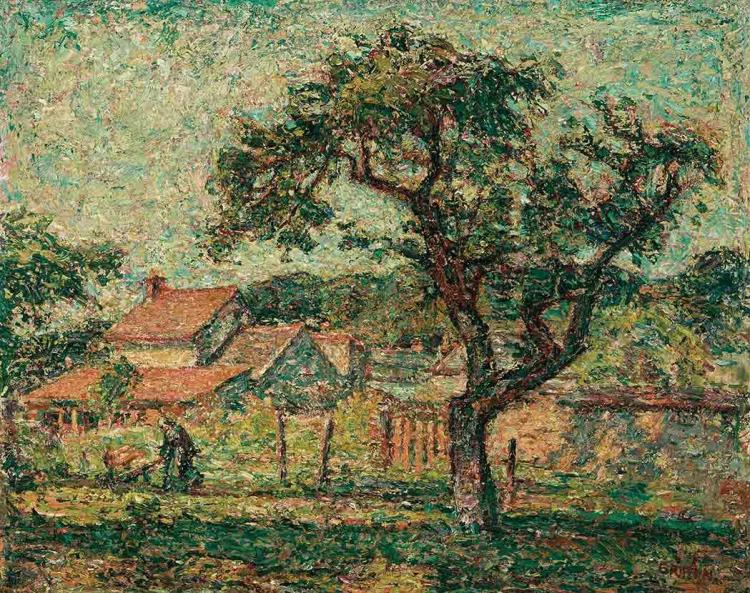 Walter Parsons Shaw Griffin American, 1861-1935 Garden Landscape Signed Griffin (lr); signed again and dat...