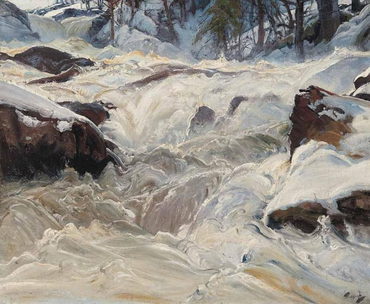 Frederick Judd Waugh American, 1861-1940 Mountain Stream in the Snow