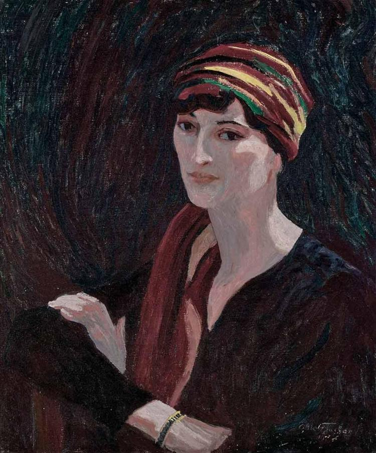 Allen Tucker American, 1866-1939 Woman Wearing Turban Signed Allen Tucker and dated indistinctly 19__P...