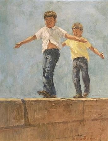Gunnar Donald Anderson American, b.1927 CHILDREN PLAYING