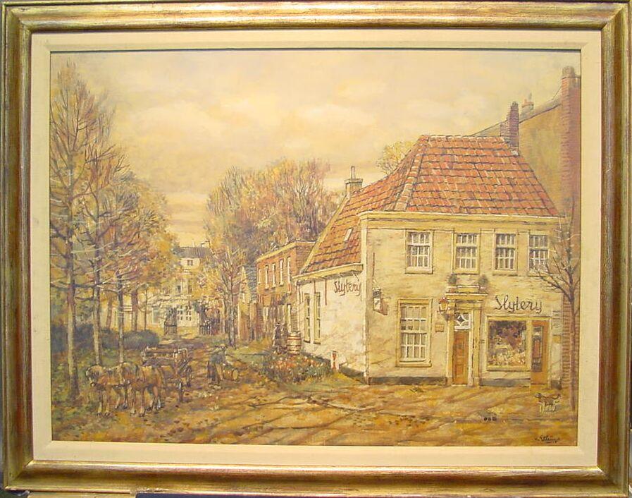 Borgert Carolus von Ettinger Dutch, b. 1916 DUTCH TOWN