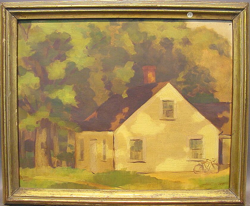 Henry Strater American, b. 1896 YELLOW HOUSE