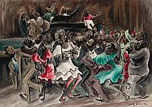 Adolf Arthur Dehn American, 1895-1968 Dance in Harlem, 1942 Signed Adolf Dehn and dated 42 (lr) Wate...
