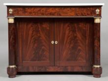 Empire Gilt-Bronze Mounted Mahogany Side Cabinet
