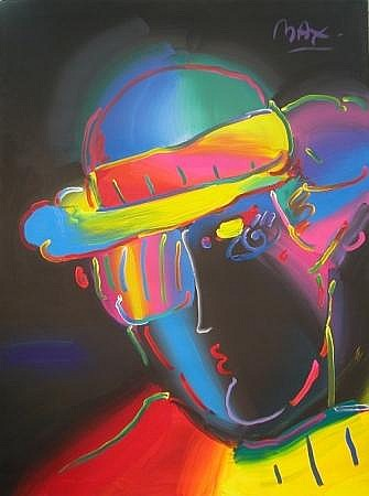 Peter Max German, b. 1937 ZERO SPECTRUM ON BLACK, 1989