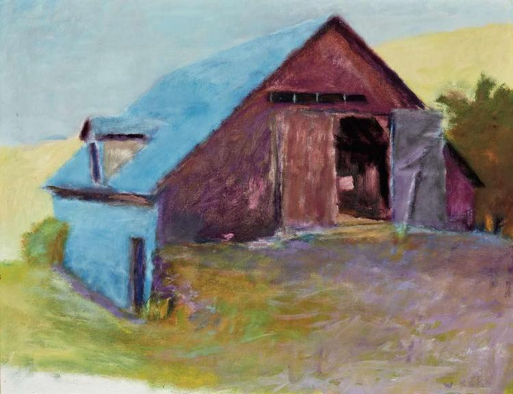 Wolf Kahn German/American, b. 1927 Blue Barn, 1975