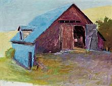 Wolf Kahn German/American, b. 1927 Blue Barn, 1975