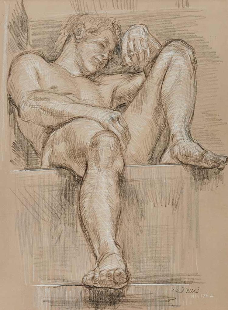 Paul Cadmus American, 1904-1999 Male Nude NM 176A