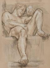 Paul Cadmus American, 1904-1999 Male Nude NM 176A