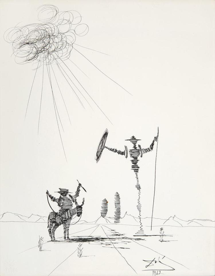 Salvador Dali Spanish, 1904-1989 Don Quixote, 1962